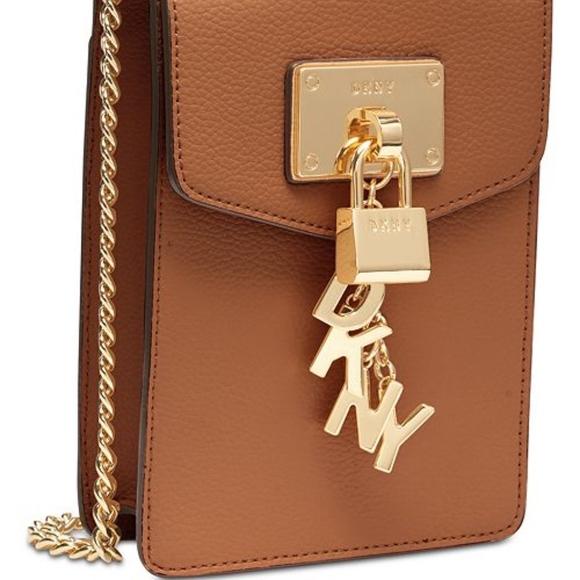 7e8732607 Dkny Bags | Elissa Pebble Leather Charm Chain Crossbody | Poshmark